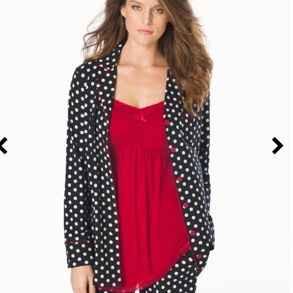 Soma Embraceable Notch Collar Polka Dot Pajama Set.  M 5b539e8ab6a942e8dcd7cd20 e9f1a54f7